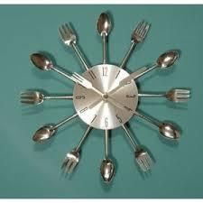 <b>Часы</b> настенные Ebay Modern chrome cutlery kitchen retro <b>wall</b> ...