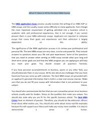 essay business management essay example essay essays about essay what it takes to write the best mba essays features custom business