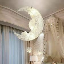 <b>Modern Pendant</b> Lamp Ceiling Light <b>Moon&Star</b> Light for Child Kid ...