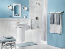 blue bathroom tiles themes