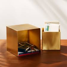 <b>2</b>-<b>Piece</b> Small Brass <b>Storage</b> Boxes + Reviews | CB2