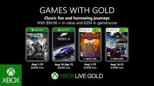 Xbox - August <b>2019</b> Games with <b>Gold</b> - YouTube
