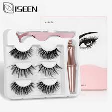 4 pairs Magnet Eyelash <b>Magnetic Liquid Eyeliner</b> Fake eyelashes& ...