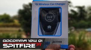 Gocomma <b>10W QI</b> Wireless <b>Fast</b> Charger <b>Car</b> Mount Holder <b>10w</b> ...