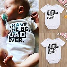 Best Daddy Mommy Newborn Infant <b>Baby Boys Girls Summer</b> ...