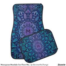 Creativity Cool Car Floor Mats Monogram Mandala F In Simple Ideas