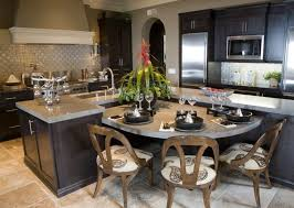 wooden dining table kitchen design