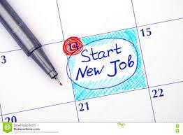 start new job royalty stock images image  reminder start new job in calendar stock photos