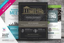 town hall meeting flyer templates flyer templates on creative market