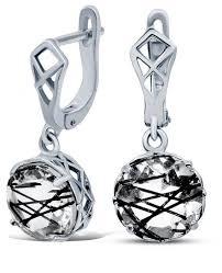 Silver WINGS <b>Серьги с кварцами из</b> серебра 22veafa01849b-19 ...