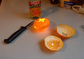 slice citrus fruit and fill with olive oil as an alternative to paraffin candles blog spa bathroom