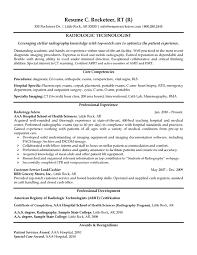 radiologic technologist resumefree resume templates