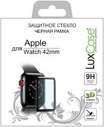 <b>Защитное стекло</b> Luxcase 3D <b>Glass</b> для Apple Watch 42 мм ...