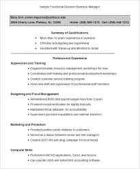 Functional Resume Template – 15+ Free Samples, Examples, Format ... Sample Functional Resume-Business Manager