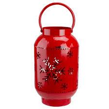 Northlight <b>10</b>-<b>Inch</b> Red Snowflake Cutout Christmas Candle Lantern ...