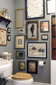 bathroom small spaces this gallery wall puts the pow in powder room in a small space bathroo