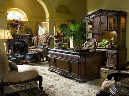 decoration spacious area for elegant home office with wide fireplace and old fashioned wing chair chair elegant home