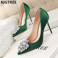 Online Shop <b>Big tree</b> brand <b>2019</b> autumn ladies high heel pointed ...