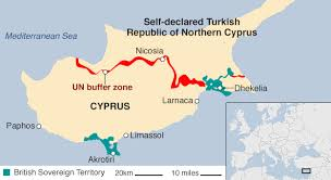 Image result for Map of Cyprus/Turkish border