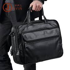 "<b>Natural Cow Leather Men</b> Handbag Big 15"" Laptop Bag 3 Layers ..."
