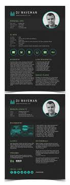 modern cv resume templates cover letter design graphic dj resume template
