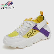 <b>DORATASIA New INS Hot</b> Colored Summer Mesh Sneakers Women ...