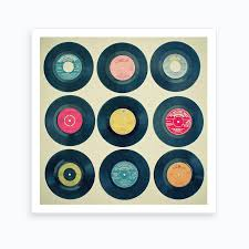 <b>Vinyl Collection</b> Print | <b>Free</b> Shipping | Fy