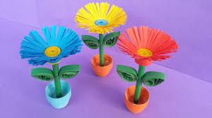 DIY: Quilling Miniature 3D Flower Pot !!! How to Make 3D Flower Pot ...