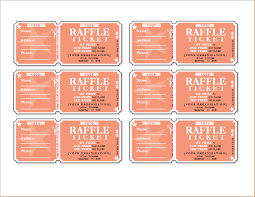 Raffle Ticket Templates for WORD | Word Document Templates raffle tickets template