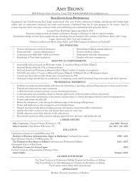example real estate broker resume  sample real estate broker  real estate agent resume template real estate agent real estate