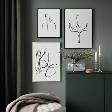 <b>Abstract Sexy Woman</b> Body <b>Line</b> Nordic Posters And Prints Wall Art ...
