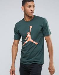 Зеленая <b>футболка Nike</b> Air Jordan <b>Hand</b> Down 801601-327 | ASOS