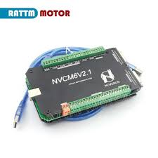 6 Axis <b>200KHZ</b> NVCM MACH3 <b>USB</b> Motion Control Card CNC ...