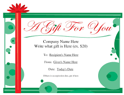 cool gift certificate template in card invitation ideas simple gift certificate template