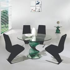 4 Piece Dining Room Sets Impressive Formal Dining Room Set Contains Glass Round Table With