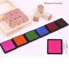 <b>12 Colors Cute Inkpad</b> Craft Oil Based DIY Ink Pads for Rubber ...