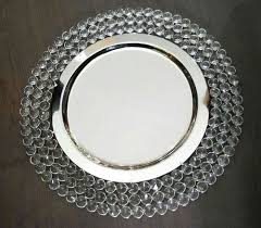 charger plates decorative: free shipping crystal chareger plate charger tray for wedding decorationchina