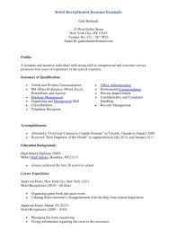 receptionist resume example for salon office eager world hotel receptionist resume a part of under professional resumes front office support receptionist resume sample
