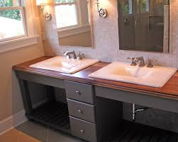 alluring brown wooden bathroom furniture ideas with double round contemporary vanities sink gray drawers using knobs alluring bathroom sink vanity cabinet