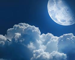 clouds and the moon