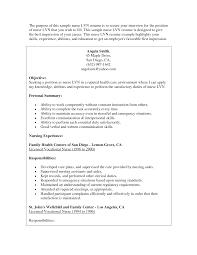 licensed vocational nurse lvn resume sample job and resume home health lvn resume sample