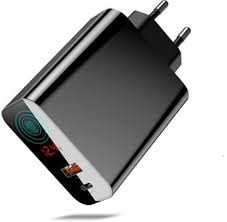 <b>Baseus</b> 45W Super-<b>Fast Quick</b> Charger 4.0 <b>Digital Display</b> Wall ...