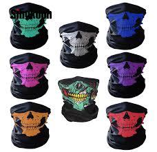 Skull <b>Motorcycle Face Mask</b> balaclava Army tactical mask scary ...