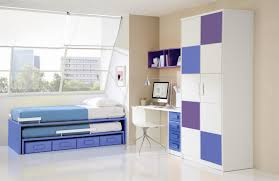 minimalist white bedroom design with blue themed boy kids bedroom contemporary children