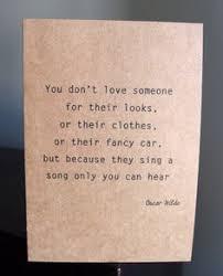 Love Card - Oscar Wilde quote - Anniversary, wedding, engagement ... via Relatably.com