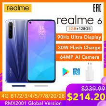 <b>Realme 6</b> глобальная Версия Мобильный <b>телефон</b> 4 Гб RAM 128 ...