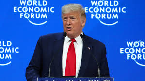 <b>Trump</b> attacks environmental 'prophets <b>of</b> doom' <b>at</b> Davos 2020
