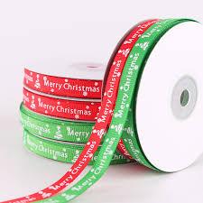 1 Roll 25 Yards <b>Width 1cm</b> 2 Colors Red Green <b>Merry</b> Christmas ...