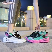 autumn new women chunky sneakers 2019 thick sole platform white fashion casual shoes