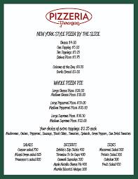 pizzeria sco s at ti las vegas pizza on the las vegas preview menu